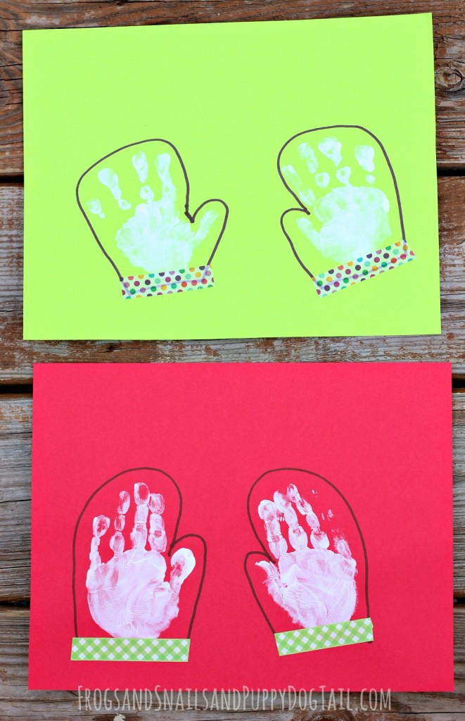 mitten handprint art for kids