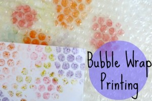 Invitation to Play: Bubble Wrap Printing