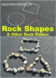 Mamas Like Me: Rock Shapes & Other Shape Games #Math #Shapes #Games for #kids