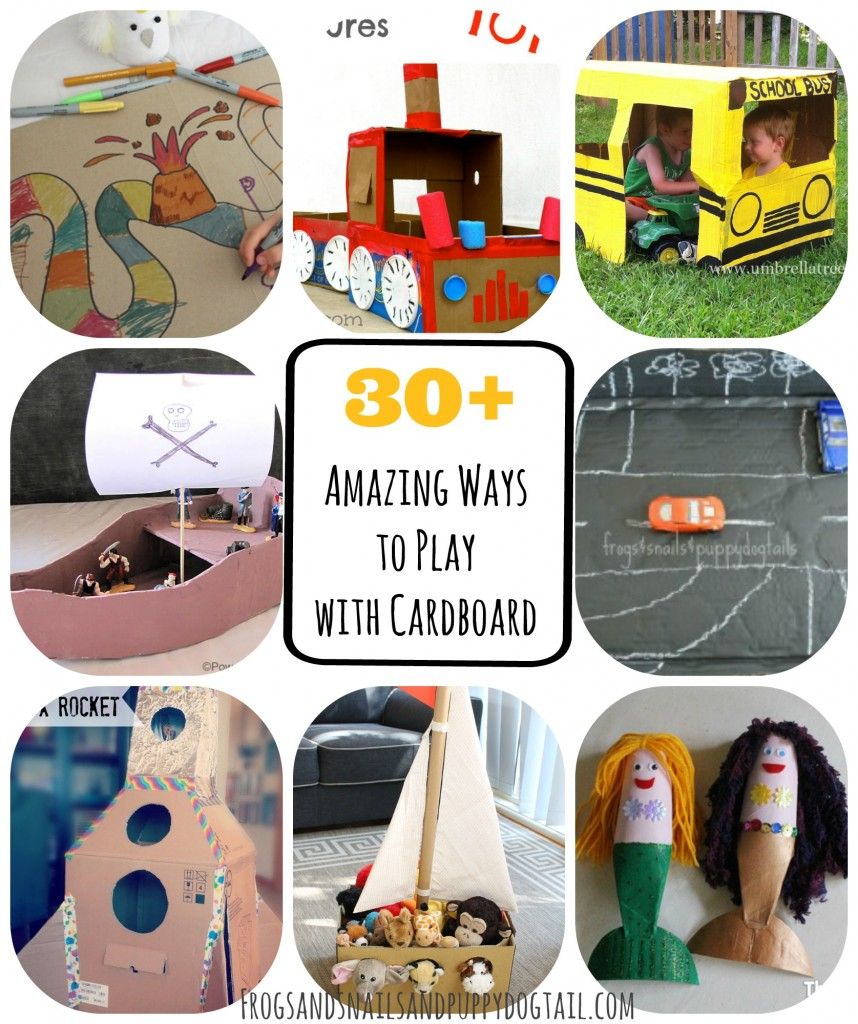30+ Amazing Ways to Play with Cardboard