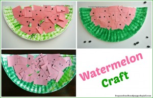 Watermelon Scissor Skills and Paper Plate Craft