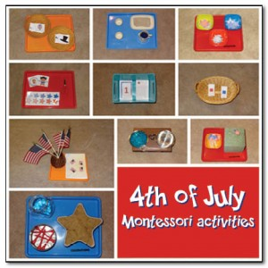 4th of July Montessori trays || Gift of Curiosity