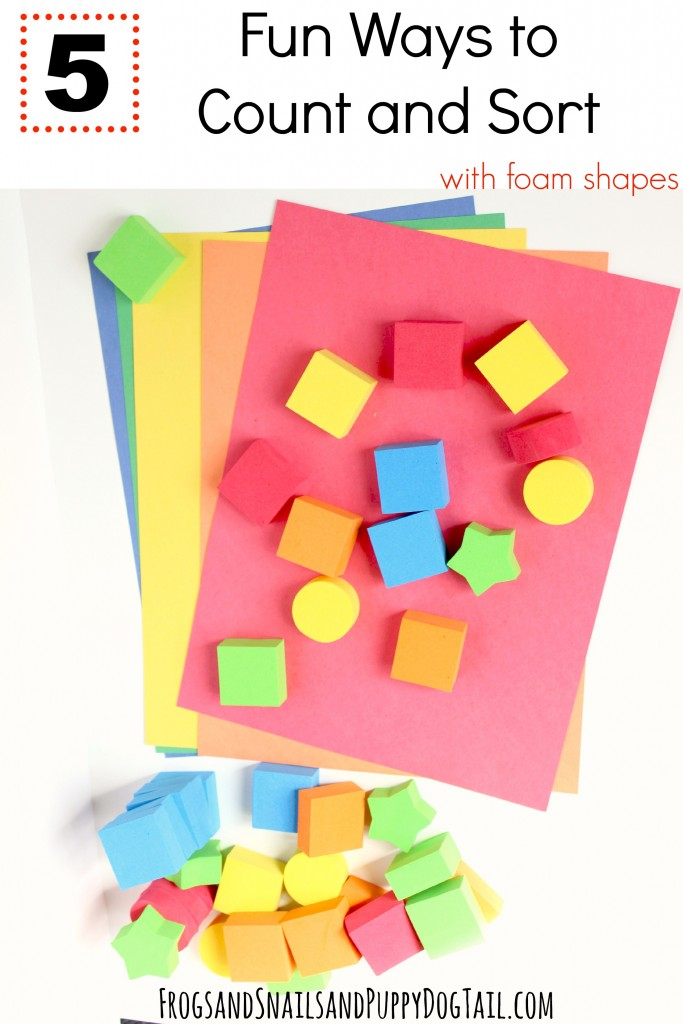 5 fun ways to count and sort with foam shapes