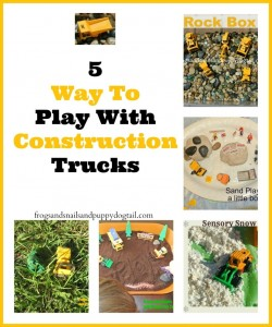 Dig into Construction Sites With 5 Way To Play With Construction Trucks