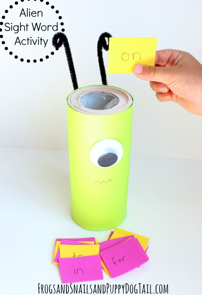 Alien Sight Word Learning Activity for Kids