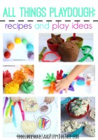 All things playdough- playdough recipes and playdough activity ideas for kids