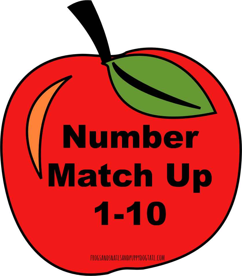 Apple Number Match Up Activity for Kids