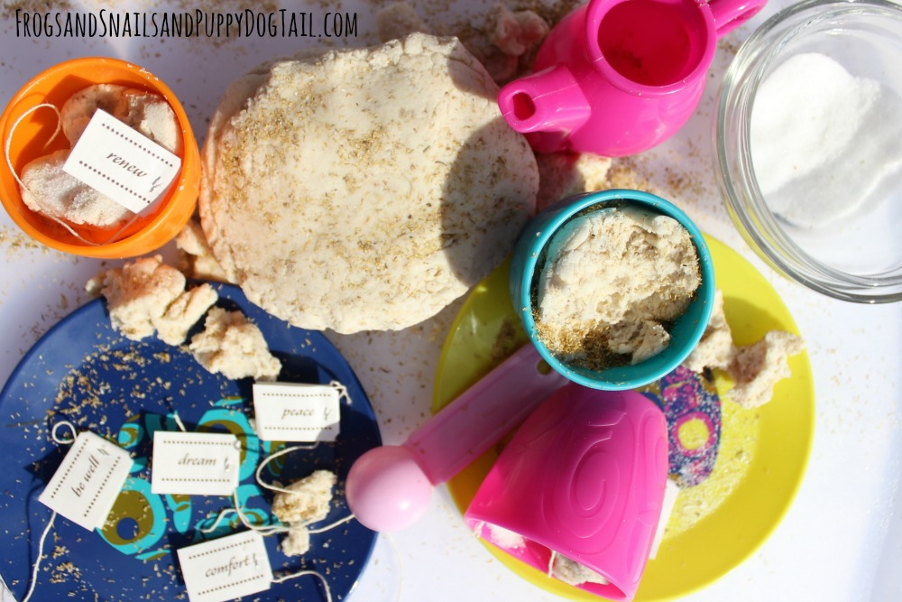 Chamomile Playdough Play idea for kids