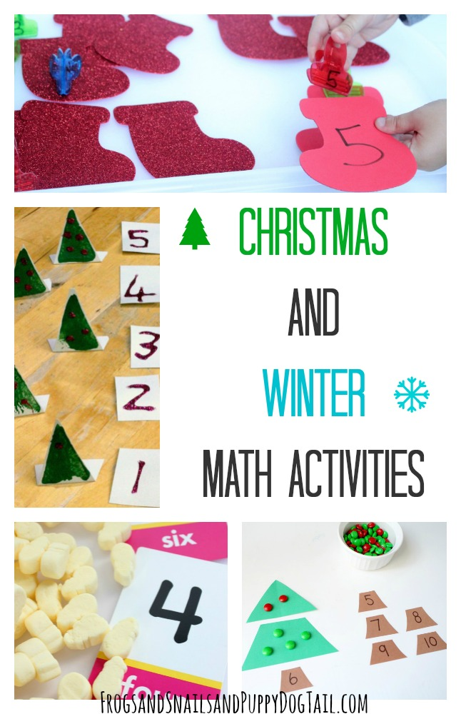 Christmas and Winter Math Activities for kids