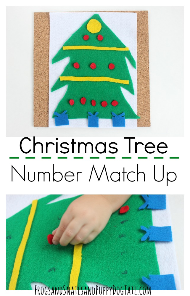 Christmas Tree Number Match Up