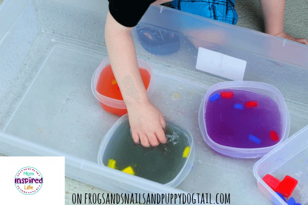 Color Mixing with Ice Cubes and Water 4
