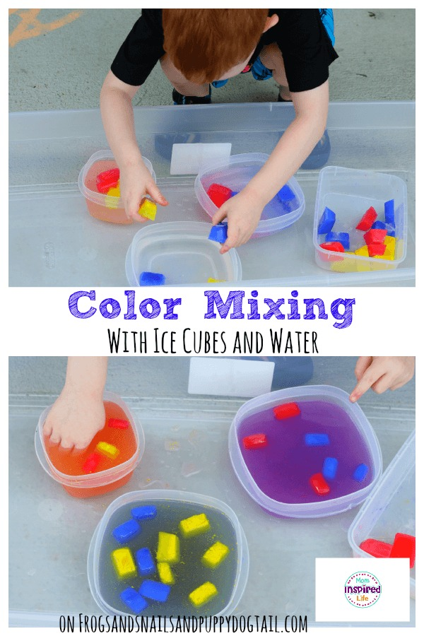 Color Mixing with Ice Cubes and Water