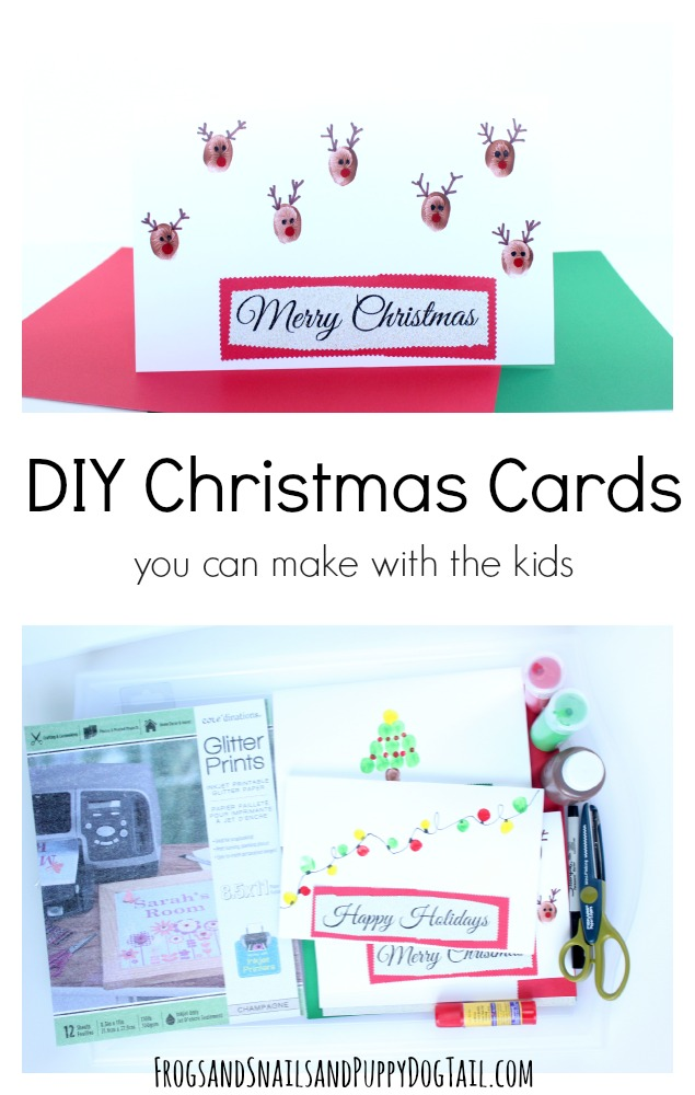 DIY Christmas cards you can make with the kids