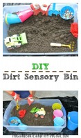 DIY Dirt Sensory Bin for Kids