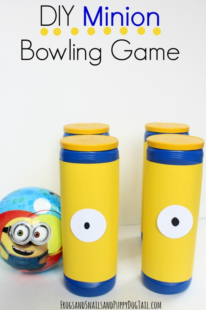 DIY Minion Bowling Game for Kids