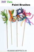 DIY Yarn Paint Brushes