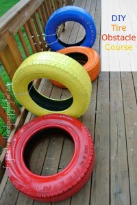 DIY Tire Obstacle Course