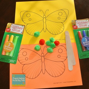 Butterfly Craft (a great activity for The Very Hungry Caterpillar)