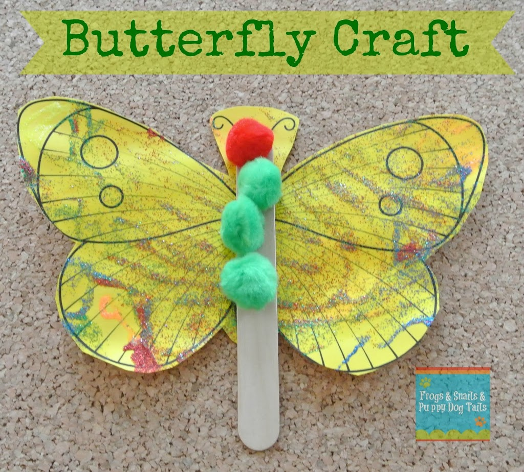 Butterfly craft a great activity for the very hungry for Butterfly art and craft