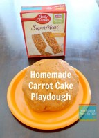 carrot cake playdough