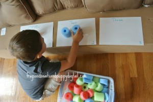 Counting and Color Sorting With Pool Noodles