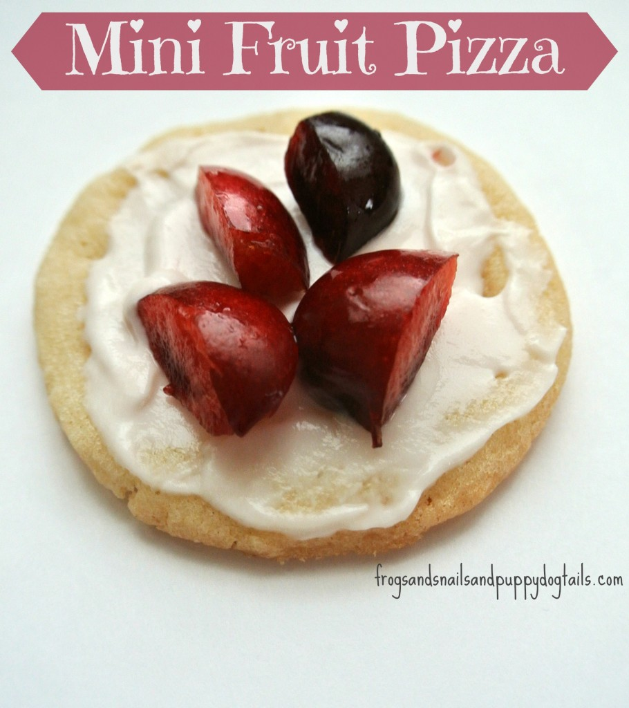 mini fruit pizza for kids