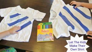 Fabric Marker T-shirts- fun activity for the kids