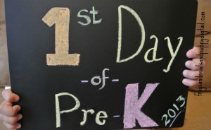 First Day Of School Photo Ideas With Chalkboard Sign