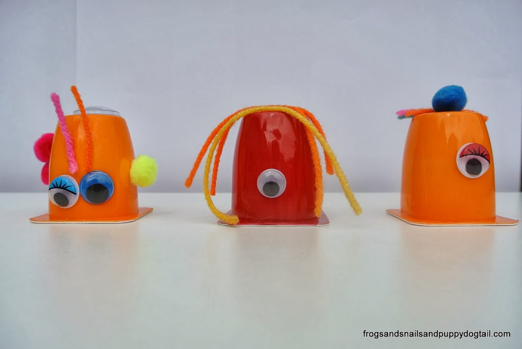 Yogurt Cup Monsters- Fun Halloween Craft/Art For Kids - FSPDT