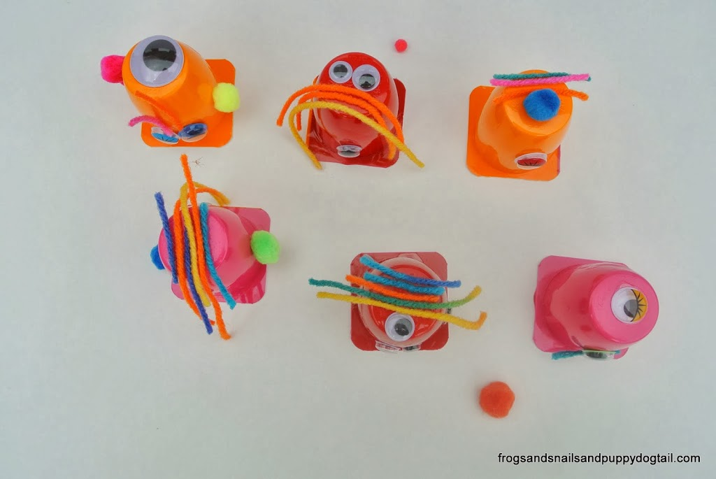 yogurt cup monsters fun halloween craft for kids by fspdt