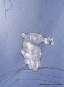 Polar Bear Handprint Art ~ P is for Polar Bear