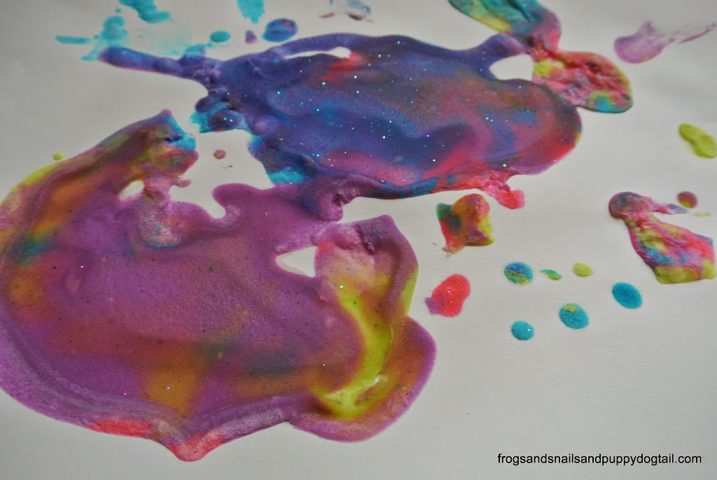 DIY Glitter Puffy Paint to Make sensory art