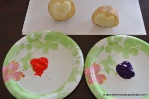 Heart Potato Stamping by FSPDT