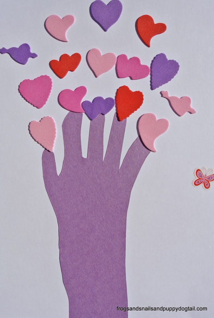 Heart HandprintTree Craft for Kids