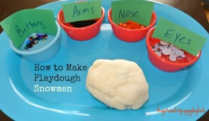 Snowmen from White Glitter Playdough