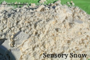 Sensory Snow-how to make