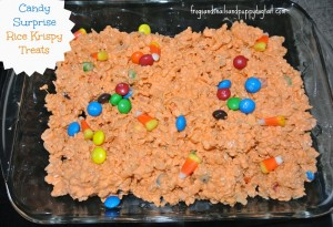 Candy Surprise rice krispy treats