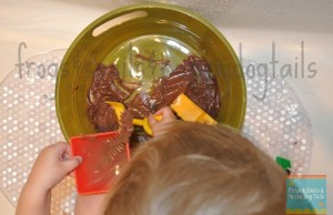 """Sensory Sink"" for toddlers{mud and bugs}"