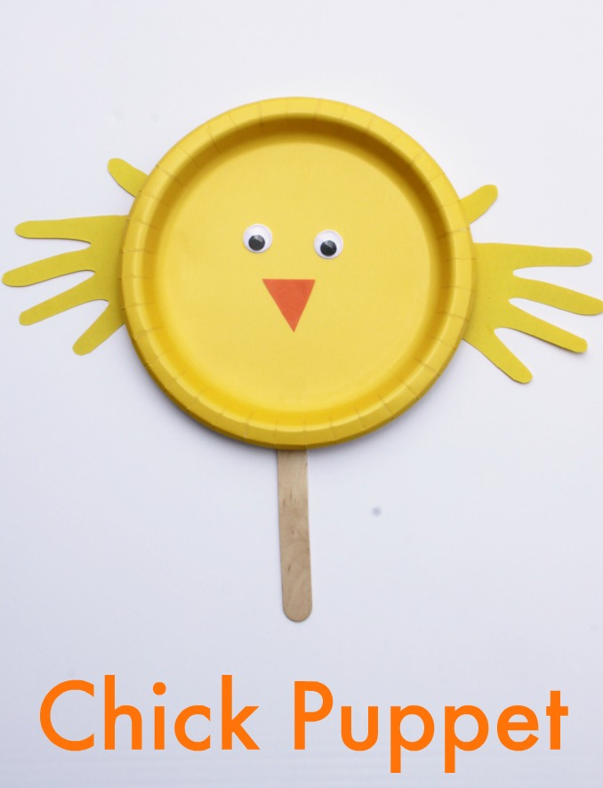 Chick Paper Plate Craft