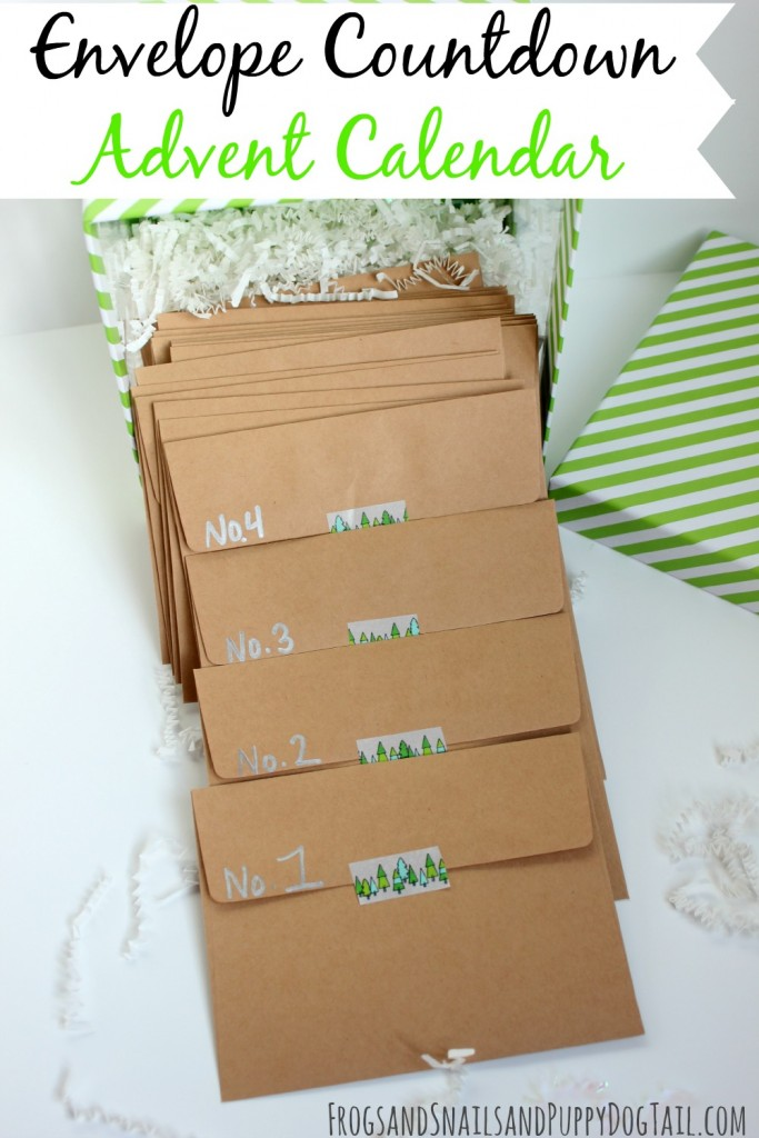 Envelope Countdown Advent Calendar
