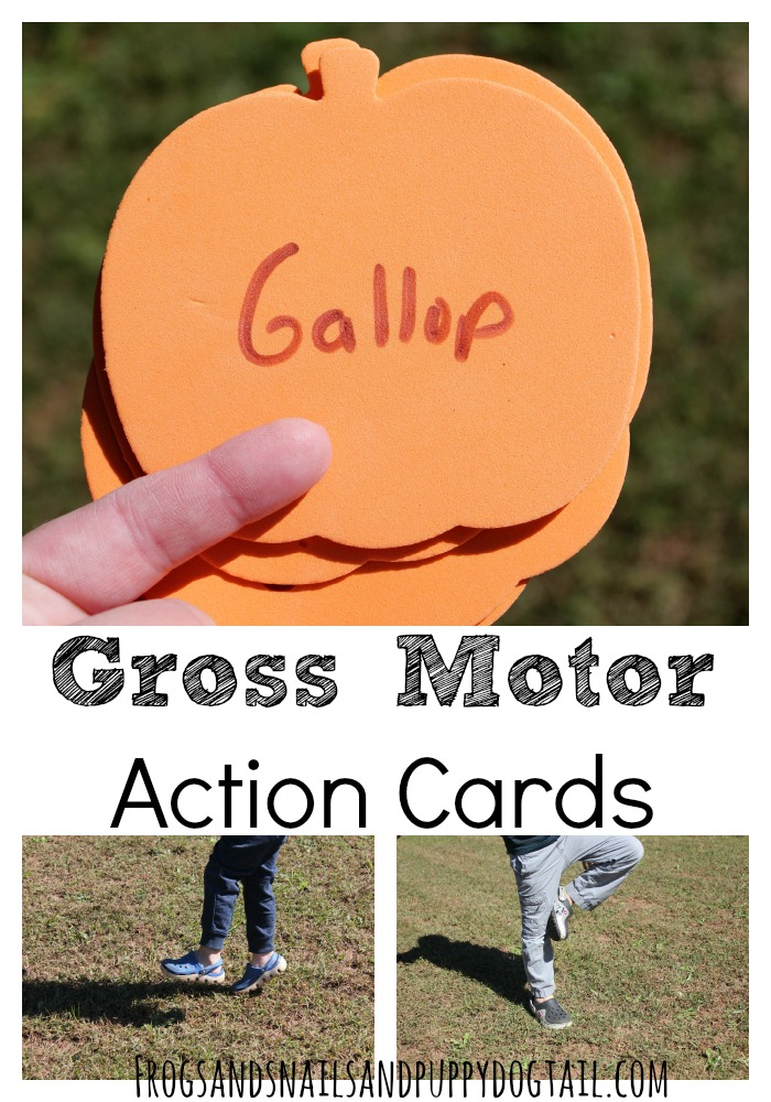 Fall Gross Motor Action Cards for Kids