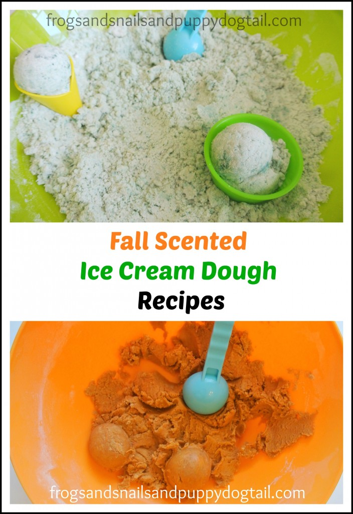 fall scented ice cream dough