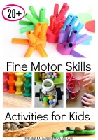 20+ Fine Motor Skills Activities for the Kids
