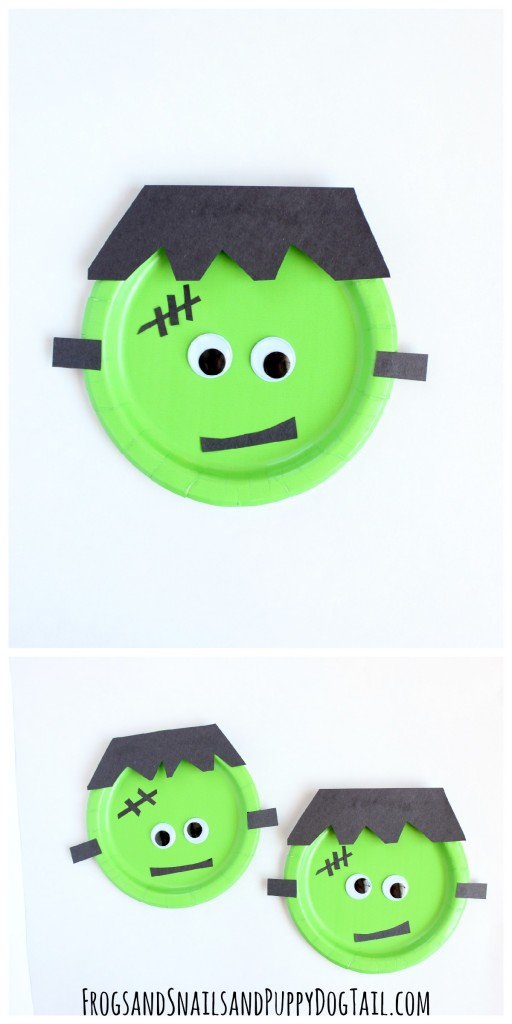 Frankenstein Halloween Craft for Kids  sc 1 st  Frogs and Snails and Puppy Dog Tails & Frankenstein Paper Plate Craft - FSPDT