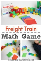 Freight Train Inspired Math Game for Kids