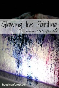 Glowing Ice Painting