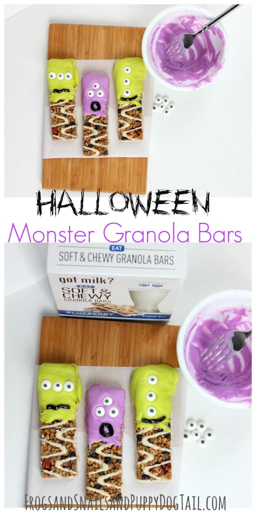 Halloween Monster Granola Bars fun party food