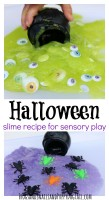 Halloween Slime Recipe for Sensory Play