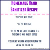 Homemade Hand Sanitizer Recipe