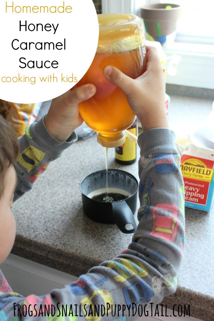 Homemade Honey Caramel Sauce Cooking with Kids